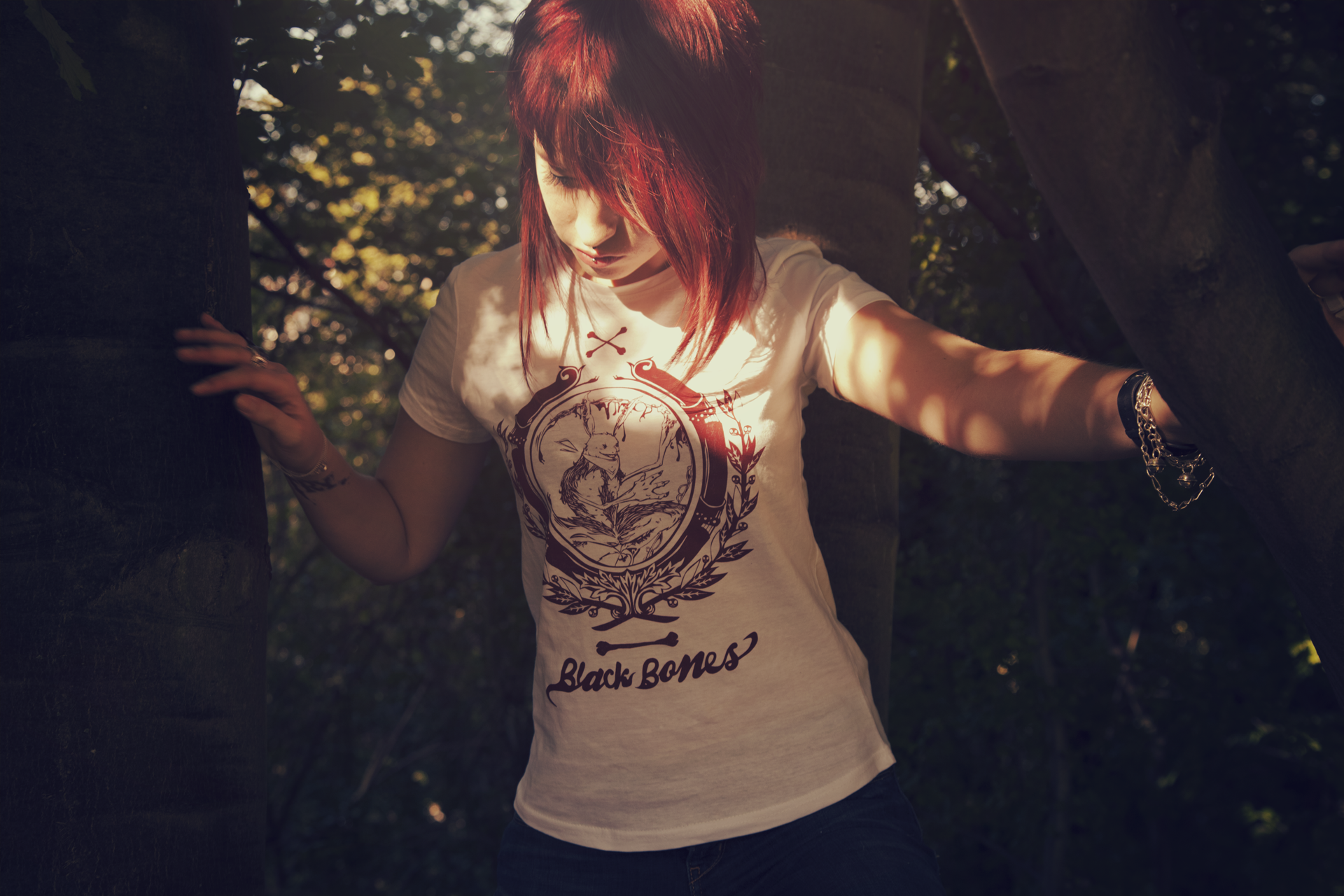 black bones t-shirt blanc femme