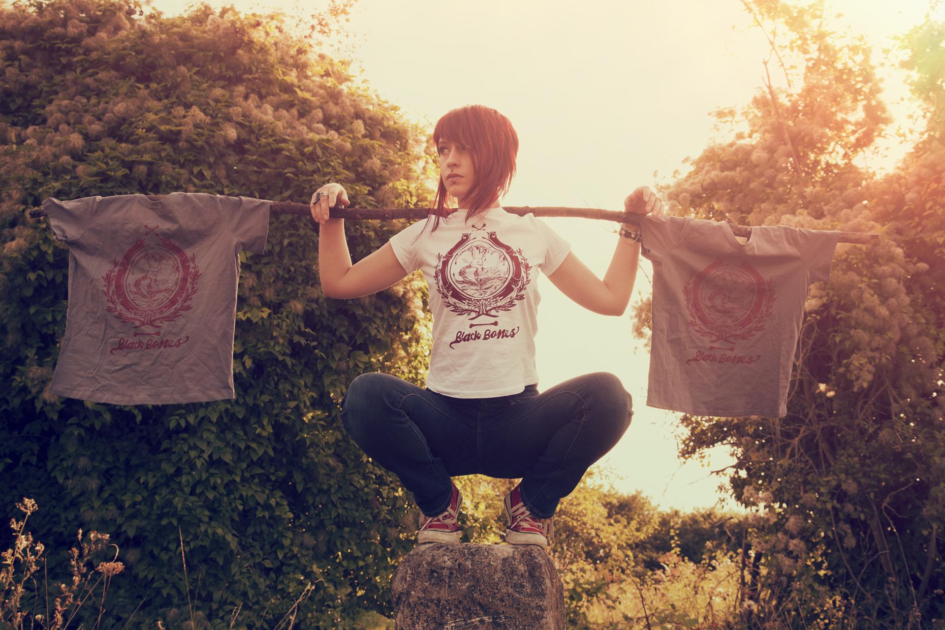 black bones t-shirt gris femme rouen